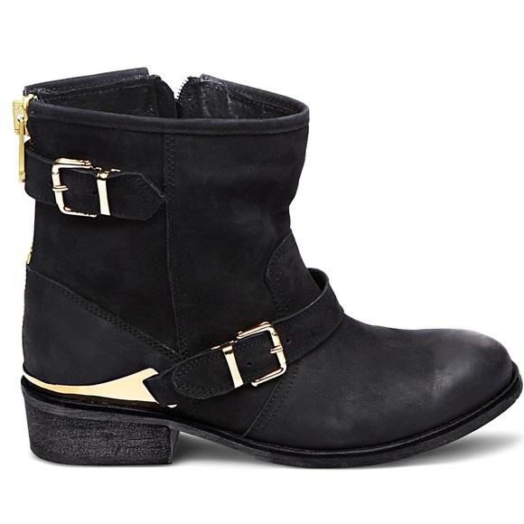 Steve Madden Chaps Black W Gold Boots